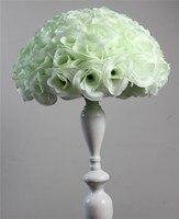 Ivoor/cream, Hot Koop Kunstmatige Rozen bloem bal Voor Thuis/Bruiloft Decoratie Bloemhoofdjes Kussen Ballen Voor bruiloften 25 Cm