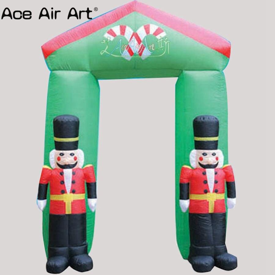 Хит продаж новогодние надувные солдаты Арка С равномерное Рождество арки дома для наружного декора