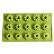 Silicone Soap Mold 15-Cavity Cake Decoration Tools Candy Chocolate Mould Handmade Making Supplies