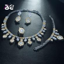Be 8  Classic Fashion Bridal Wedding Jewelry Sets Sparkling AAA CZ Paved Dubai 4pcs Set Jewellery for Women Bijoux Femme S318 s318