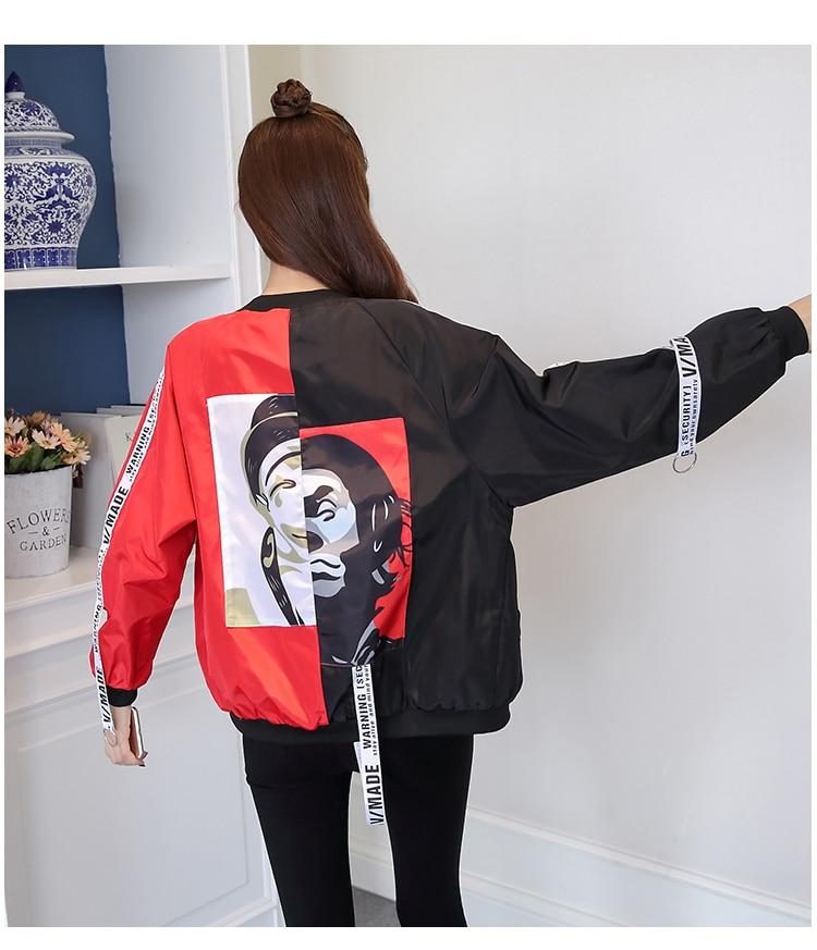 HTB147zgbL1H3KVjSZFBq6zSMXXaF Jackets Women 2018 New Women's Basic Jacket Fashion Thin Girl Windbreaker Outwear Bomber Female Baseball Women Men Coat