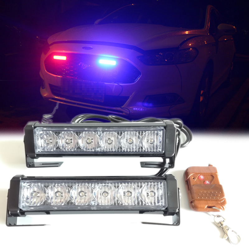 Wireless Control 12V Strobe Warning Light Car Truck Flashing Firemen LED Lights Engineering Vehicles AVT Ambulance Police Light цена и фото