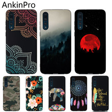 Silicone Cover Phone Case For Huawei P20 P10 P30 Pro Lite Plus Black Soft TPU Protective Back Cases Cat Moon AnkinPro(China)