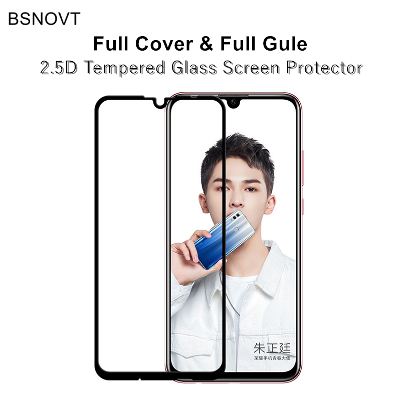 Full Cover & Full Glue Screen Protector Huawei Honor 10 Lite Glass Tempered Glass Honor 10 lite Full Coverage Glass Film
