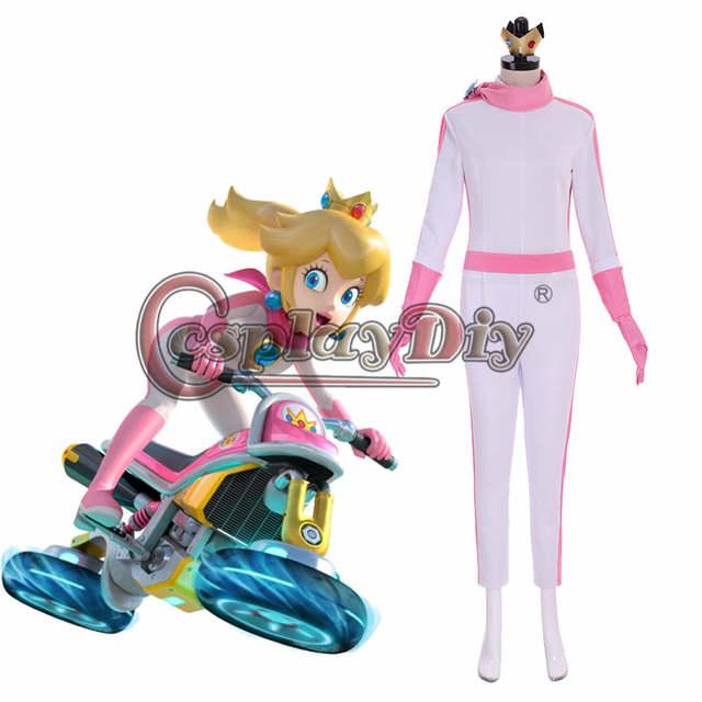 Us 71 39 15 Off Cosplaydiy Mario Kart 8 Princess Peach Daisy Rosalina Bike Suit Cosplay Costume Halloween Party Women Girls Jumpsuit Custom Made In