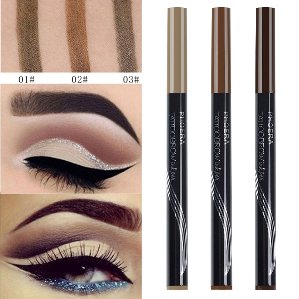 Double Headed Eyebrow Tattoo Pencil With Brush