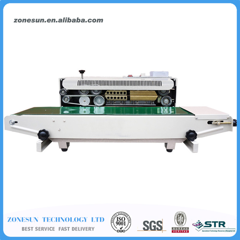 ZONESUN FR-900 Automatic Continuous film sealing machine, plastic bag package machine, Expanded food band sealer