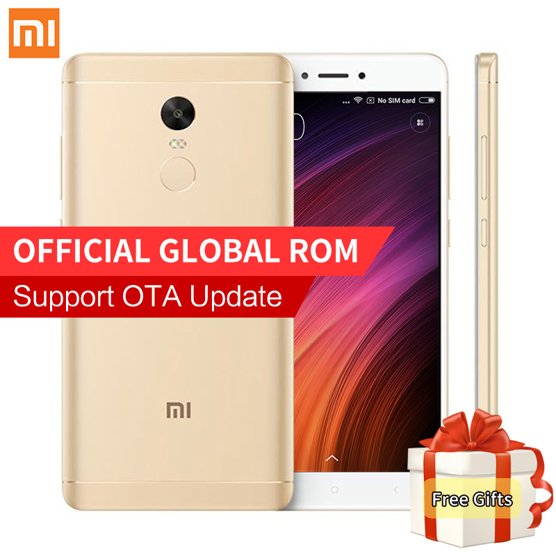 "Original Xiaomi Redmi Note 4X 3GB RAM 16GB ROM Mobile Phones Snapdragon 625 Octa Core 5.5"" FHD 4100mAh 4G FDD LTE Fingerprint ID"