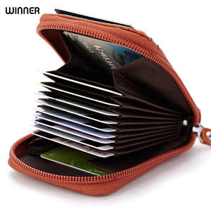 WINNER Genuine Leather Wallet Women Business Men