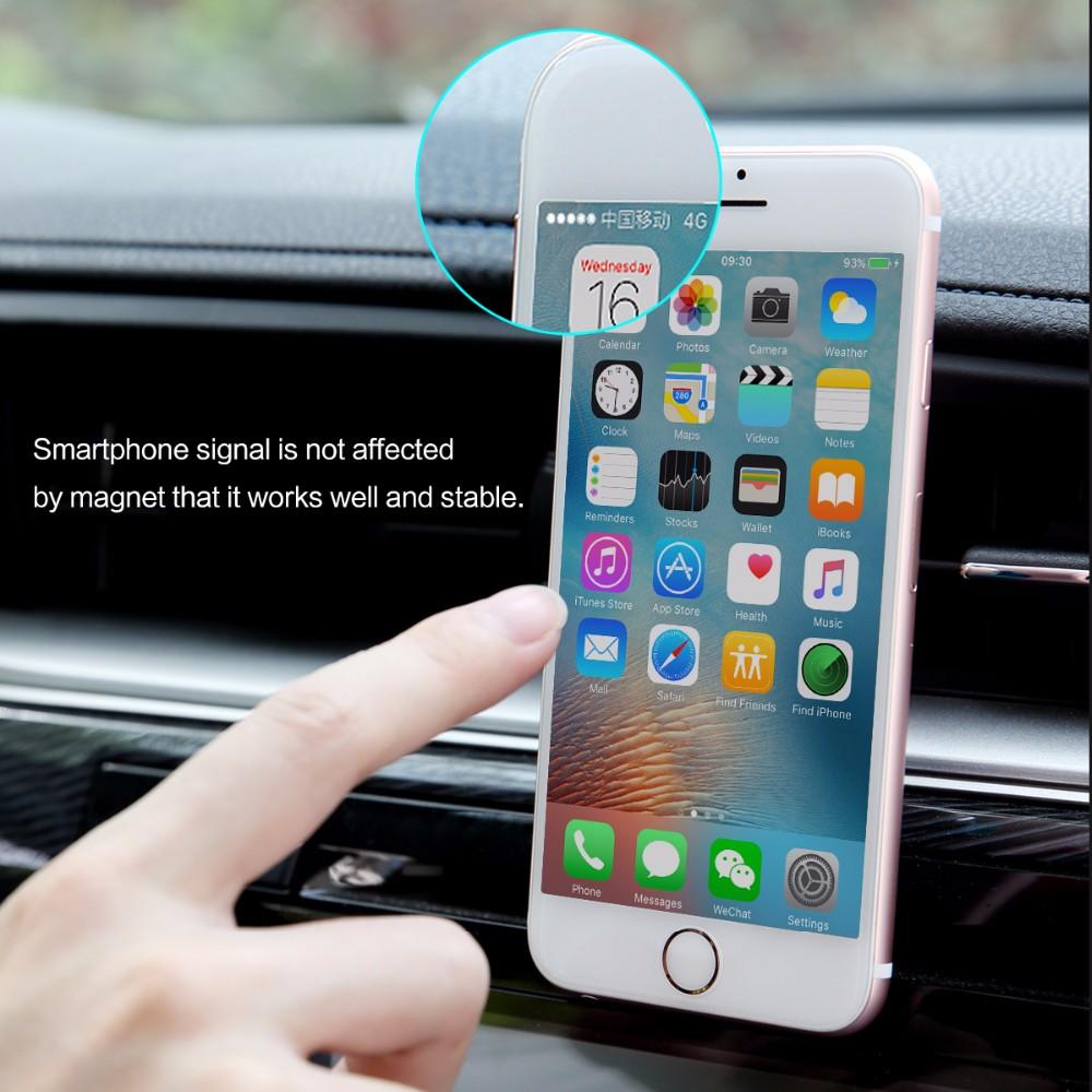 SKAŁA Obrotowy Uchwyt Magnetyczny Uchwyt Na Telefon Samochodowy Air Vent Outlet Magnes Uniwersalny Uchwyt Telefonu komórkowego Dla iphone Samsung stojak 8