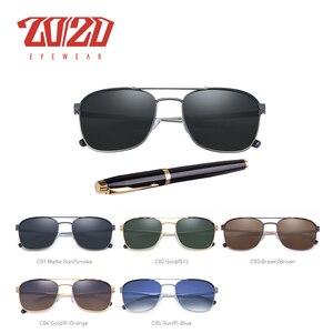 Image 2 - 20/20 מותג קלאסי כיכר מקוטב משקפי שמש גברים נשים נהיגה מתכת מסגרת משקפיים שמש זכר משקפי UV400 Gafas דה סול 17076