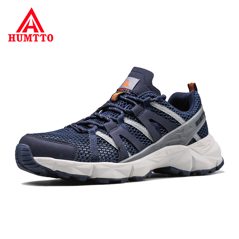 HUMTTO Summer Breathable Mesh Sport Trekking Shoes Men Outdoor Walking Jogging Footwear Non slip Lace Up
