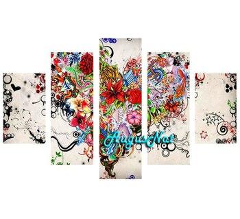 heart diamond painting kit full drill diamond sticker diy flower wall art mosaic rhinestone pasted multi pictures combination