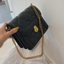 Female Crossbody Lattice Bag Women 2019 Quality PU Leather Luxury Handbag Designer Sac Main Ladies Chains Shoulder Messenger Bag