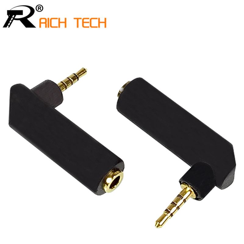 3pcs/pack Gold Plated Right Angle Jack 3.5mm Female to 2.5mm 4 poles Stereo Male Plug R Connector Earphone Adapter DIY project combo 8pcs 4pairs gold 3poles stereo audio male plug 6 35mm to female 3 5mm jack jack 3 5mm stereo for 4mm wire connectors