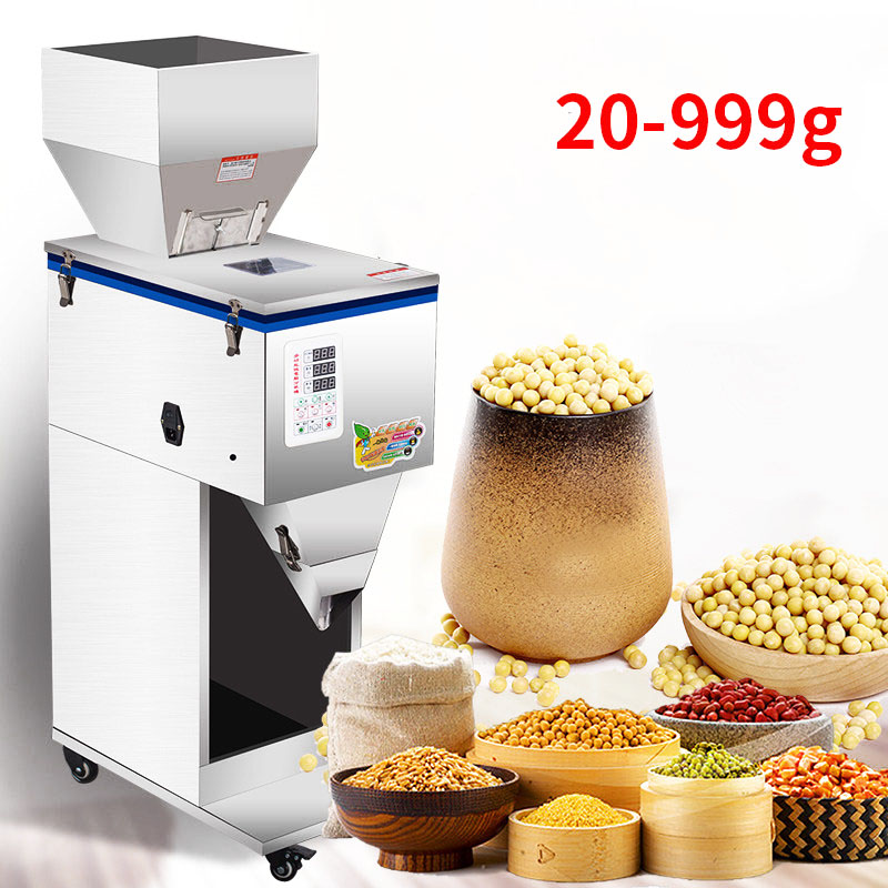 20-999g Granular Powder Filling Machine Digital Control Tea Grain Corn Grain Weighing Machine Automatic Filling Machine