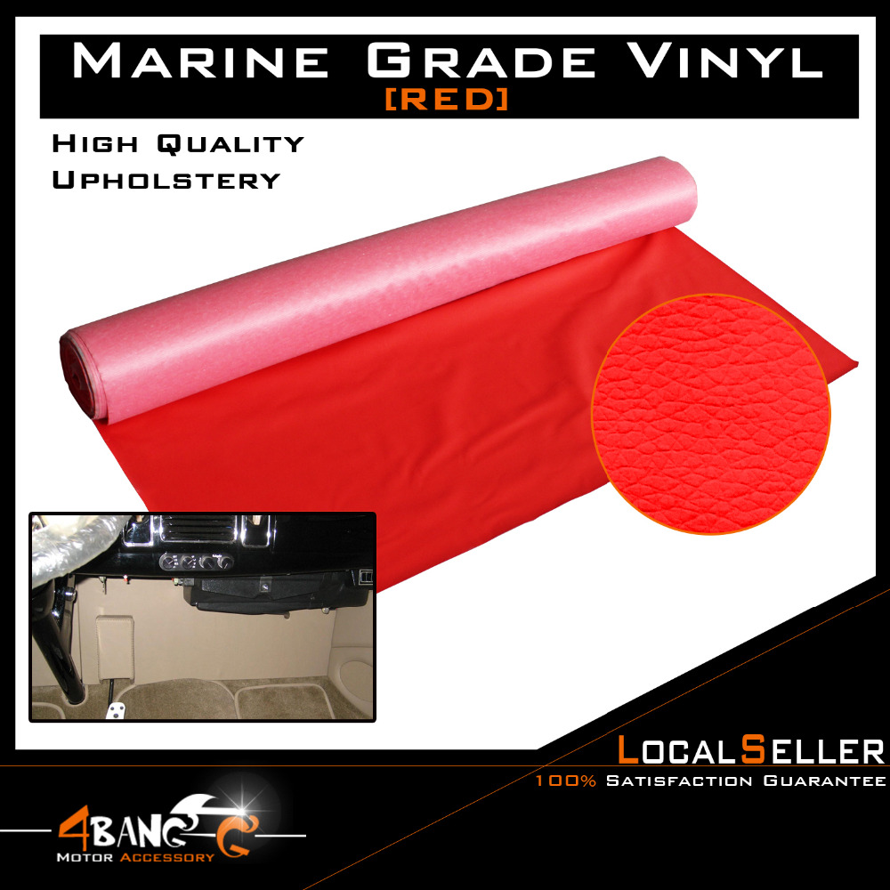 """51"""" x 54""""  130cm x 139cm  Car Boat Home Seat Deck Decora Cover Red Artificial Leather Vinyl Upholstery