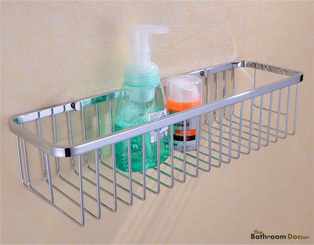 Bathroom Accessories Stainless Steel Shower Wire Wall Basket Storage ...