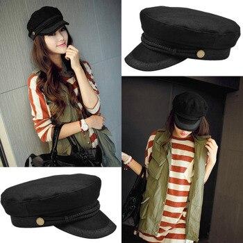 84a047dd784af Gorros militares de boina para mujer gorras de marinero casquetas de hueso  plano estilo militar bordado de encaje decoración capitán gorras navales de  ...