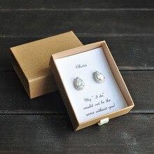 Подарок для невесты, пользовательские серьги для невесты, вечерние свадебные серьги, серьги с кубическим цирконием