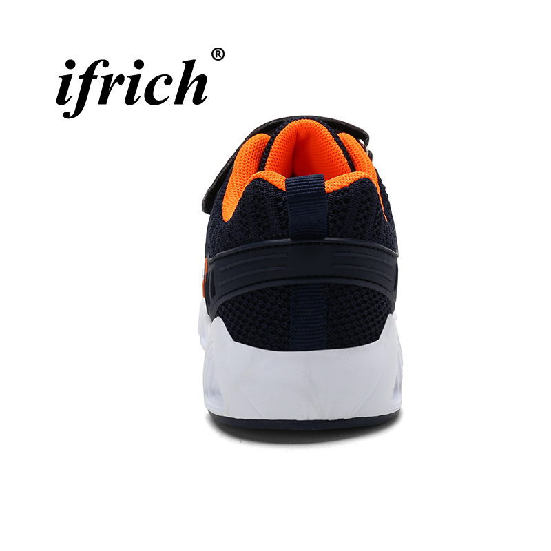 Boys Running Shoes Black Dark Blue Kids Boys Brand Trainers Spring Autumn School Shoes for Boys Breathable Lightweight Sneakers in Running Shoes from Sports Entertainment