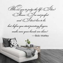 Home Dinning Room Bed Room English Proverbs Bob Marley Wall Stickers  Removable Sticker Creative Personality Waterproof FP8