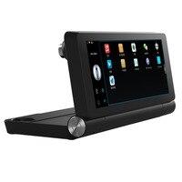 T18 wifi 7 HD 1080 P Автомобильная двойная камера заднего вида DVR рекордер с gps навигатором встроенный микрофон и динамик Поддержка FM TF
