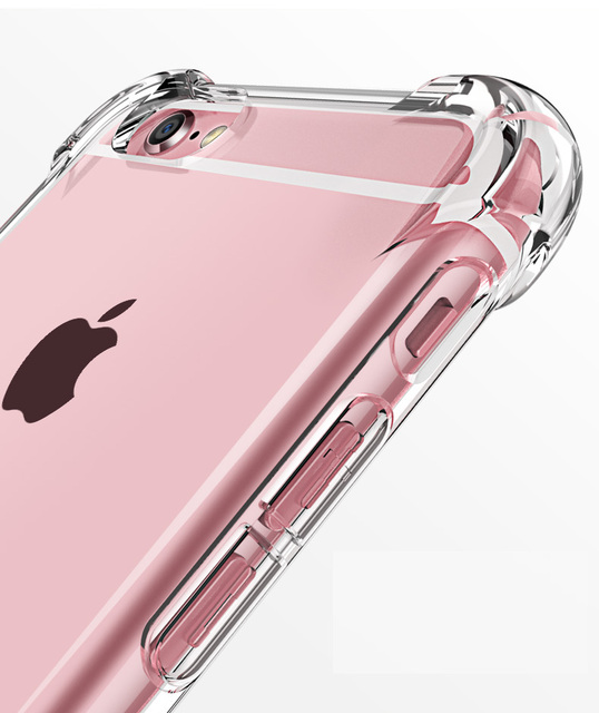 Silicone Clear TPU Case For iPhone 5s SE Cover For iPhone X XR XS MAX 7 8 6s 6 Plus Ultra Thin Crystal Back Protect Rubber Phone 4