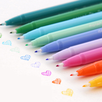 36Color/Set 0.3 mm Fineliner Gel Pens Drawing Color Pen School Stationery Watercolors Art Markers for Kids Gifts