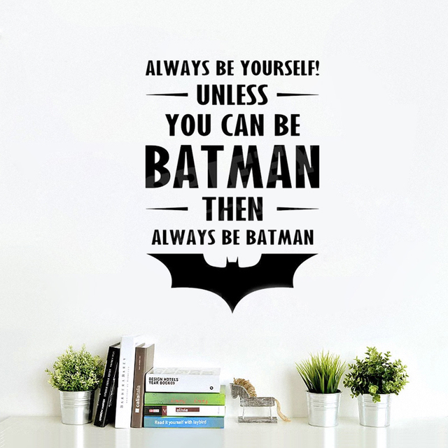 Free Shipping Diy Wallpaper Batman Always Be Batman Vinyl Wall Decal  Sticker Quote Playroom Bedroom Boy