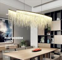 Led Modern Chandelier Lighting Hotel Restaurant Home Lamps Silver or Gold Color Tassel Design Indoor Chandelier Light