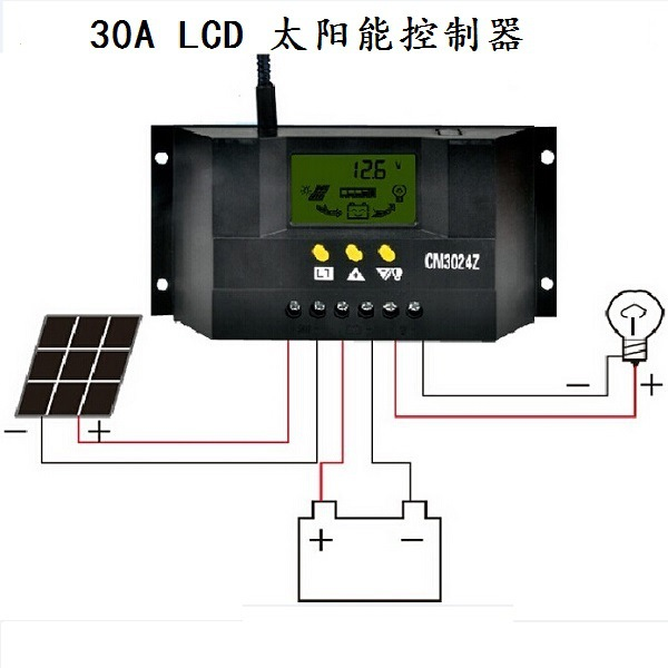 Solar Controller LCD CM3048 30A 48V PV panel Battery Charge Controller for Solar system