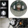 """Conveniente La Mayoría De 5.75 """"motocicleta faros 5 3/4 pulgadas LLEVÓ la linterna Negro Harley Bike las Linternas Para Harley Davidson"""