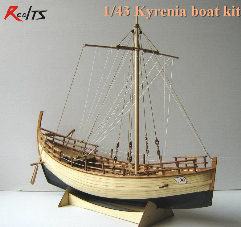 RealTS Classic scale wooden sailing boat wood scale ship 1/43 KYRENIA whole rib scale assembly model ship building kit цена