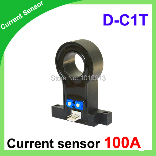 DC current transformer hall effect current transducer 100A D-C1T type current sensor hall current sensor transducer current sensors output 4 20ma 0 5v 0 600a 38mm hole diamter