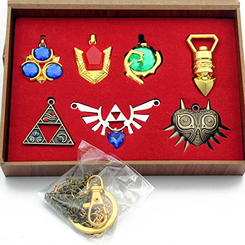 The Legend of Zelda Twilight Princess & Hylian Shield & Master Sword finest collection sets keychain / necklace / jewelry series