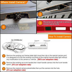Image 5 - 1 مجموعة HD سيارة الرؤية الخلفية كاميرا ل ميتسوبيشي أوتلاندر 2007 2012 للرؤية الليلية السيارات عكس كاميرا مواقف السيارات كاميرات