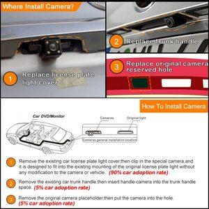 Image 5 - HD CMOS עדשת רכב הפוך מצלמה עבור מיצובישי הנכרי 2007 2012 IP68 ראיית לילה רכב אחורית חניה מצלמות