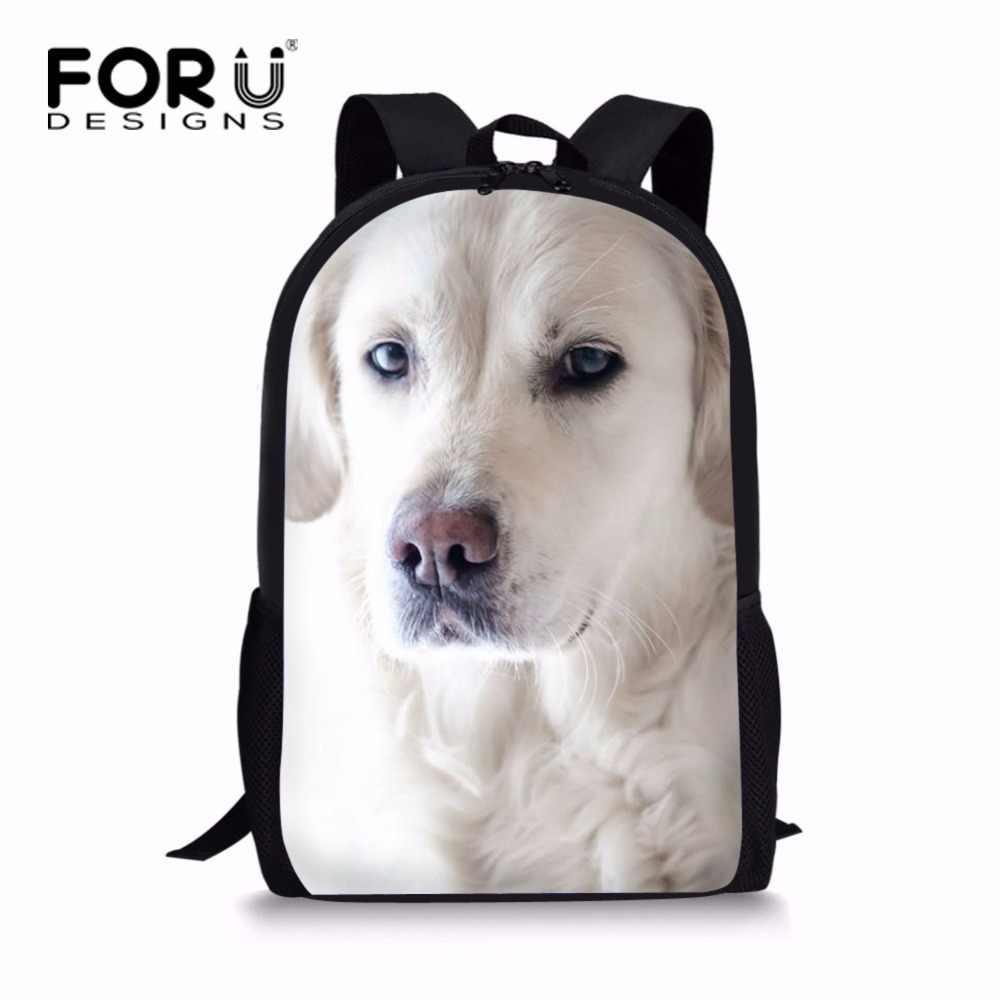 FORUDESIGNS/симпатичная сумка для книг с принтом собаки kawaii джинсы школьные сумки с изображением кота для подростков мальчиков и девочек классные японские детские школьные сумки