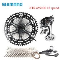 Shimano xtr m9100 12 속도 자전거 자전거 mtb 그룹 세트 키트