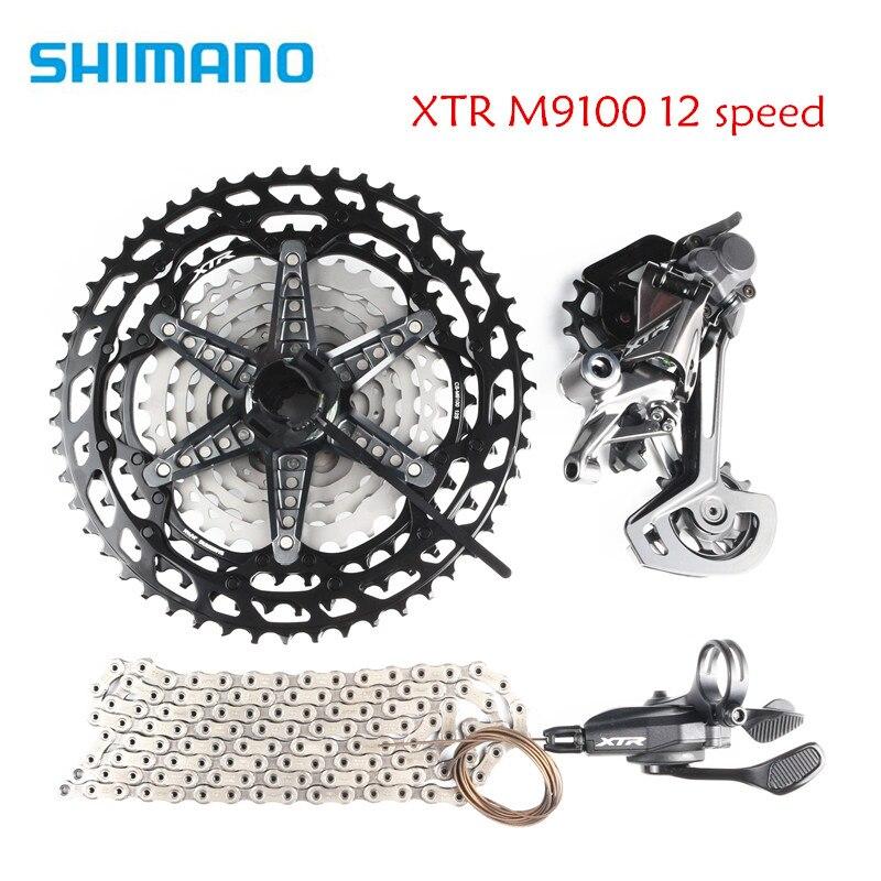 Shimano xtr m9100 12 velocidade bicicleta mtb groupset kit