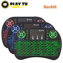 VONTAR i8+ English Russian Spanish backlight  Mini Wireless Keyboard 2.4GHz Air Mouse for android TV Box X92 X96mini Laptop PC