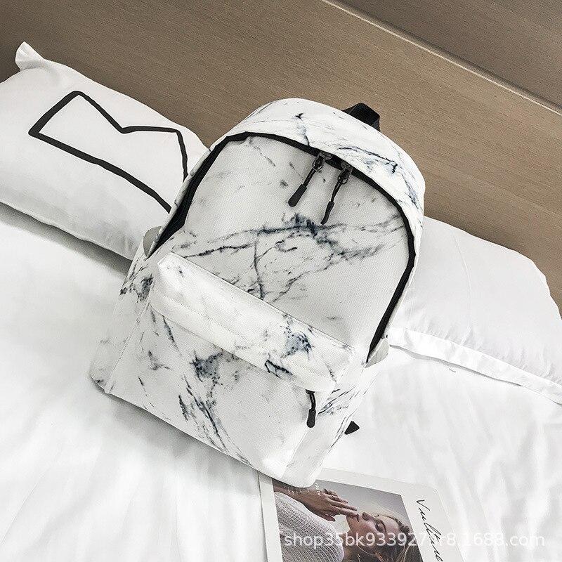 Women New Arrival Marble Pattern Backpacks Women Fashion Travel Rucksacks For Teenager Girls Portable School Bag Marbling
