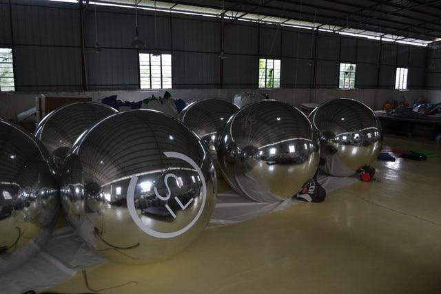 1.5 m zilver opblaasbare spiegel bal podium decoratie bal voor