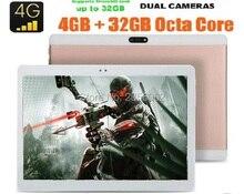 2017 El Más Nuevo 4G LTE FDD tablet 10 pulgadas Octa core 1920*1200 IPS HD de 8.0MP 4 GB RAM 64 GB ROM Android 6.0 GPS tabletas 10.1 Regalos