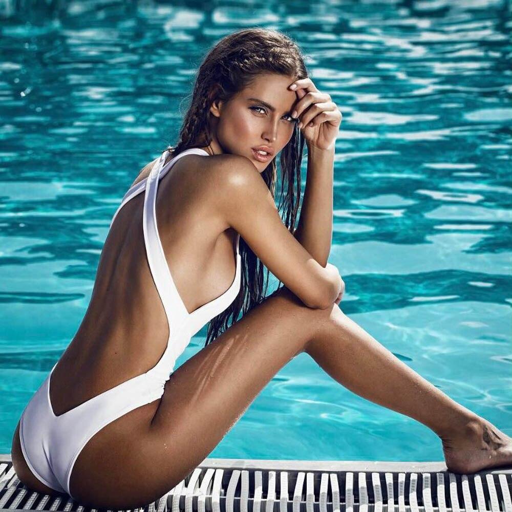 Women sexy bikini 2017 swimwear Padded Bikini One-piece swimsuit Backless Jumpsuit tankini monokini de las mujeres mayo C0620