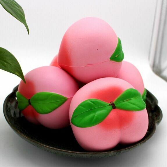 New Jumbo 10CM Jumbo Kawaii Squishy Slow Rising Peach Pendant Phone Straps Charms Queeze Kid Toys Cute Squishies Bread