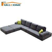 China Luxury Home Furniture Modern Fabric Scandinavian Sofa Living Room Function Backrest Italian Corner Sectional Sofa Ottoman