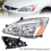 1Pcs Waterproof Durable Passenger Side / Left Side Headlight for 2003 2007 Honda Accord Car Headlights Bulbs