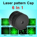 [RedStar]6B 6 in 1 Laser pattern cap stars heads 500mW 1000mW 50000mw  6 patterns in one cap for laser 303 018 851 017 etc.